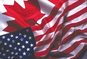 Canadian American Flags