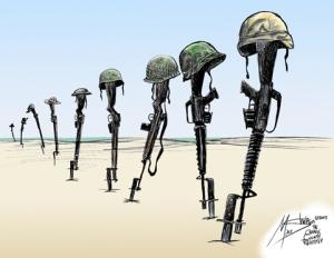 Memorial Day Cartoon Helmets