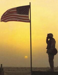 Soldier Saluting Dusk