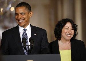 Sotomayor and Obama