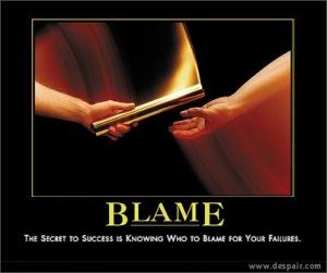 Blame Demotivator