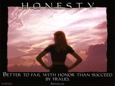 Honesty Poster