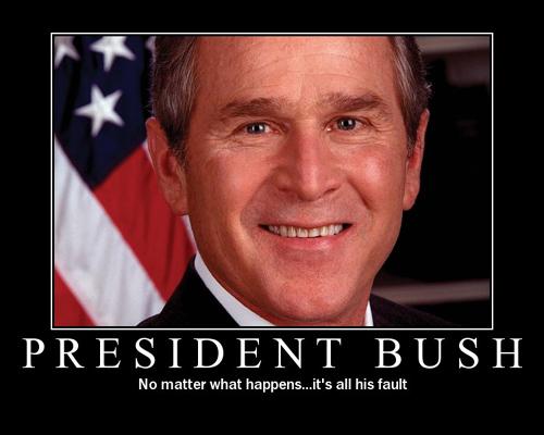 Blame Bush Poster
