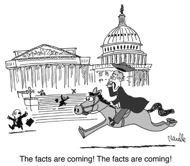 Facts Are Coming Cartoon