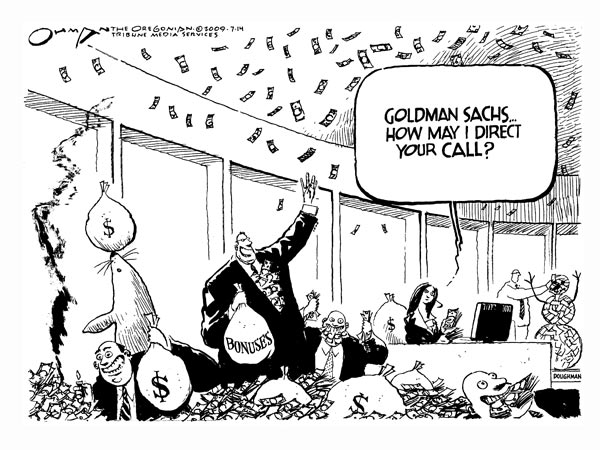 Goldman Sachs Party Cartoon