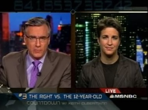 Olbermann and uber liberal propagandist Rachel Maddow