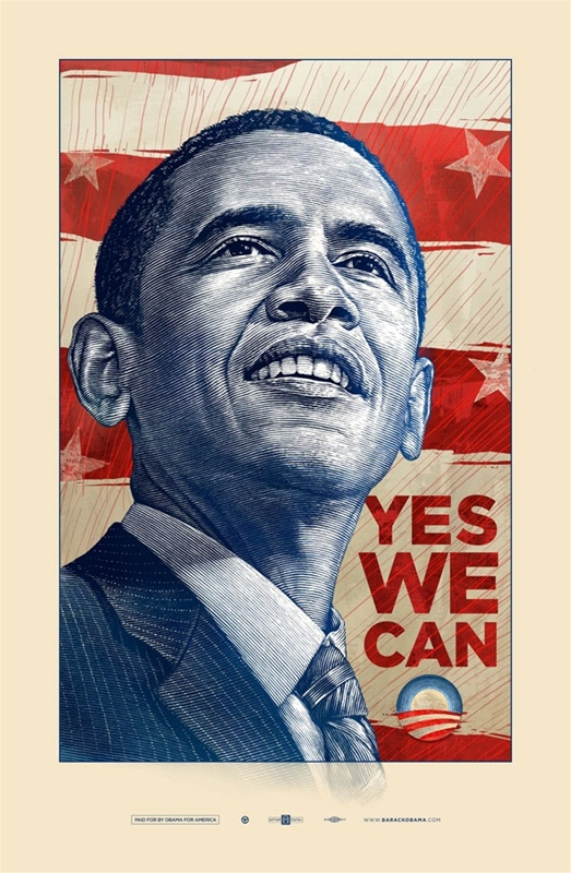 Obama Yes We Can Matte – Stand Up For America Obama Campaign Poster Official