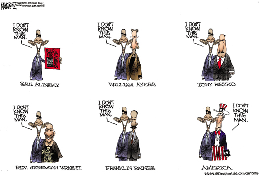 Obama Denying Friends Cartoon