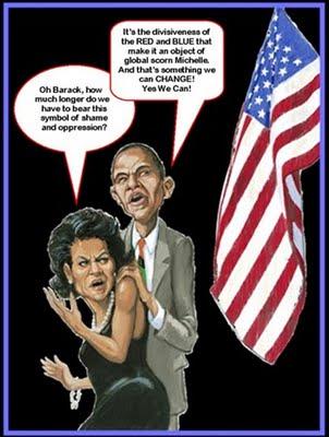 Obamas Flag Cartoon
