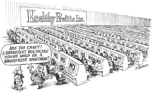 UHC Insurance Cartoon