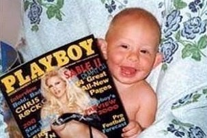 Baby with Playboy