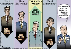 Fiscal Conservatives Cartoon