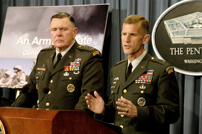 McChrystal on right... Note what is on his left shoulder. That is why I trust his judgement