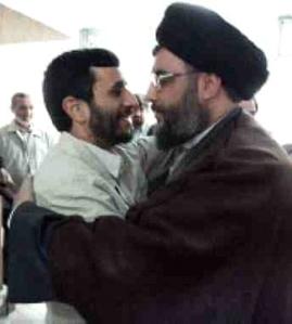 Hezbollah leader Hassan Nasrallah and Iranian president Ahmadinejad
