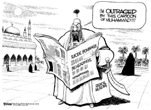 Outraged Muhammad Cartoon