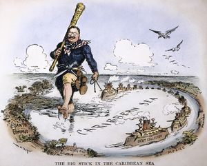 Teddy Roosevelt Foreign Policy Cartoon