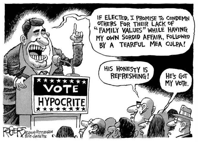 Vote Hypocrite Stand Up For America