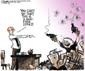 Gun Free Zone Cartoon