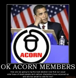 Obama ACORN Cartoon Voters