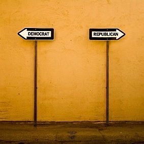 Two Parties One Way Signs