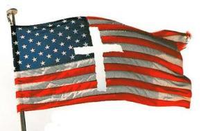 US Flag Cross