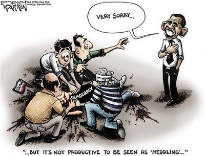 obama digging a ditch cartoon